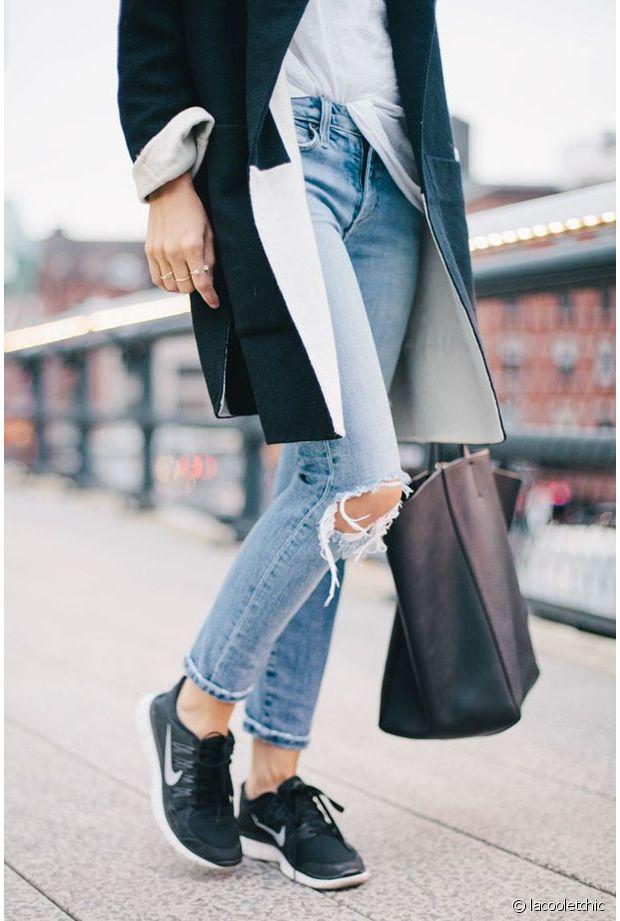 Quelles chaussures porter avec un jean déchiré ? Run Baby Run