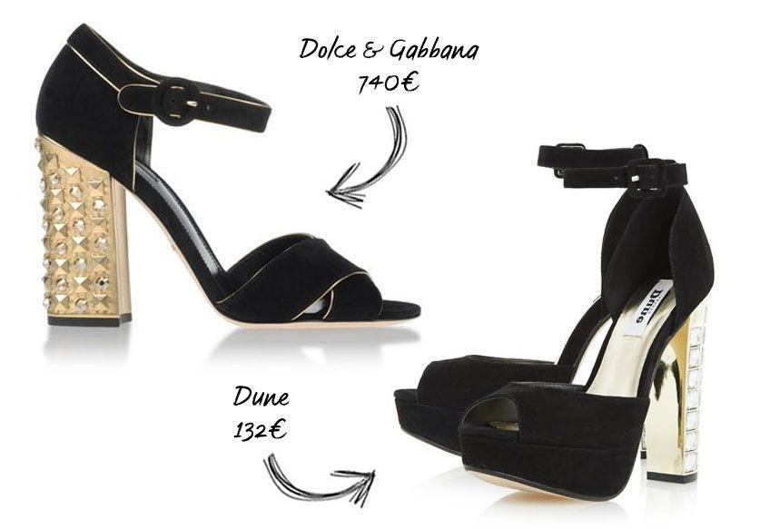 Le talon  bling bling  de Dolce & Gabbana