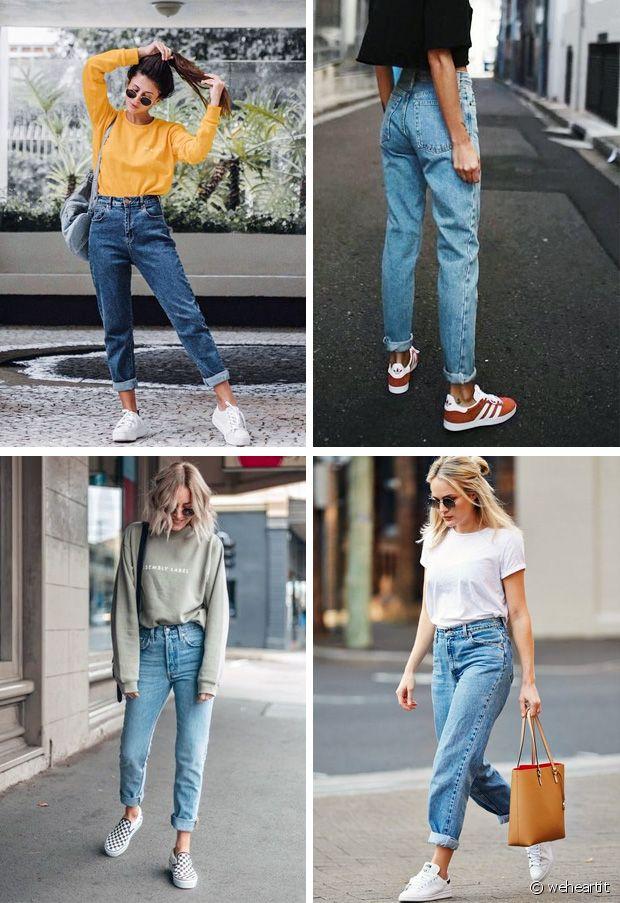 Quelles chaussures porter avec un jean Mom ? Run Baby Run