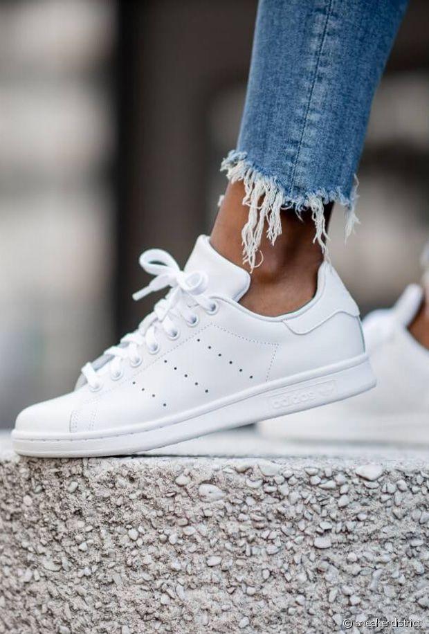 Baskets blanches en soldes : 10 modèles de sneakers immaculées en promo