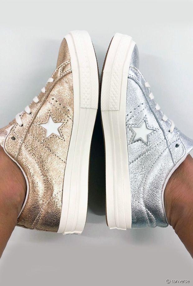 Comment porter des chaussures métalliques ce printemps ?