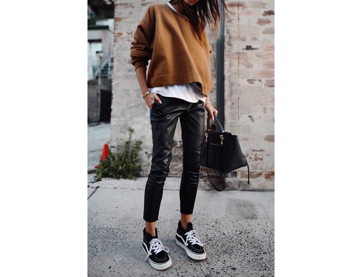Pantalon en cuir : je mets quoi comme chaussures ? Run