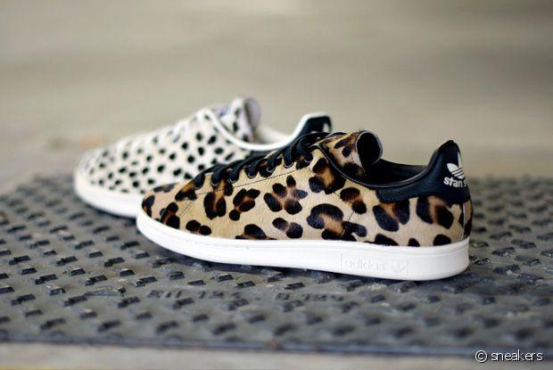 Adidas sort 2 paires de Stan Smith léopard pour le printemps