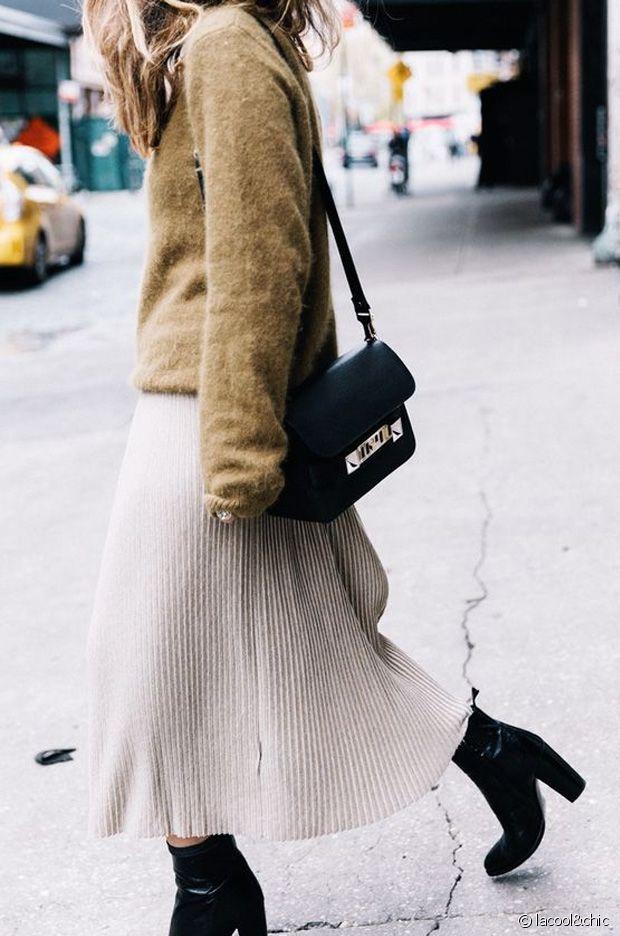 Jupe longue et Ankle boots : le bon combo