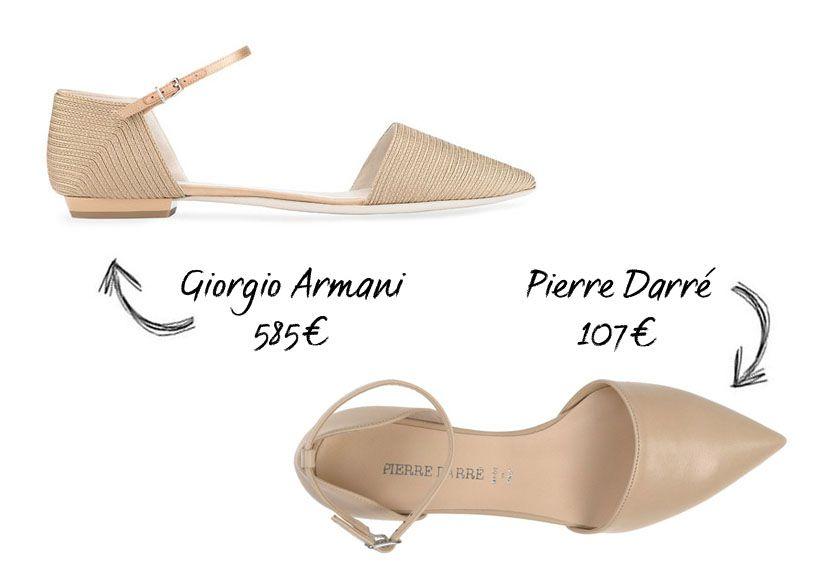 Les babies pointues de Giorgio Armani