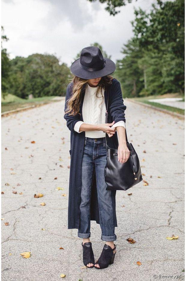 Bottines ouvertes et manteau long = le bon duo pour ce début d'automne !