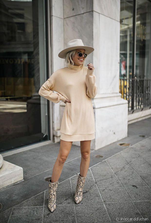 Quelles chaussures porter avec une robe-pull cet automne-hiver ?