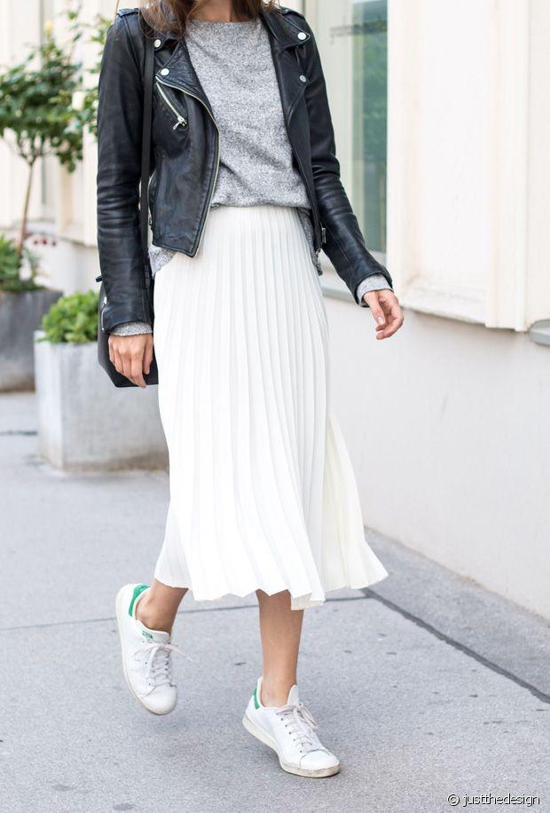 Jupe plissée : je mets quoi comme chaussures avec ?