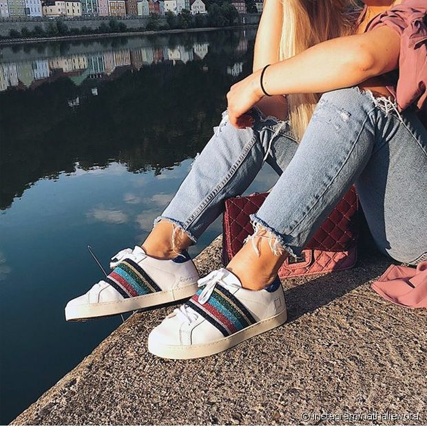 Les petites baskets à paillettes parfaites pour les beaux jours