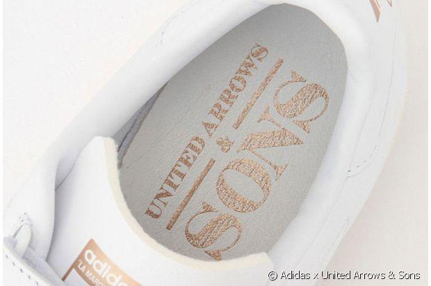 Après le logo blanc, le nom dans la chaussure : United Arrows se la joue discretos !