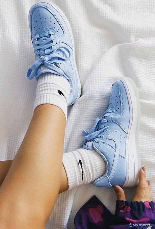 Baskets bleues : je veux des sneakers bleu ciel