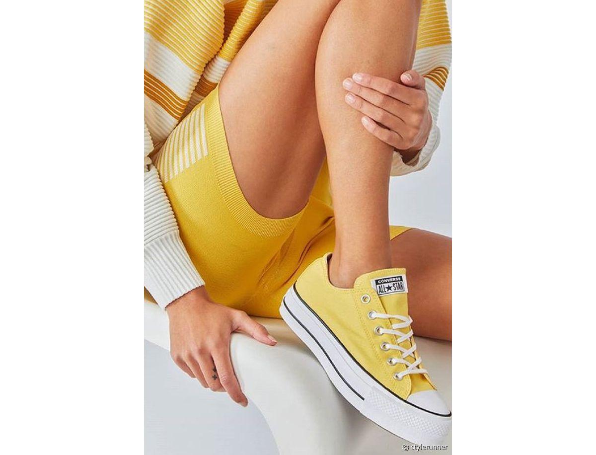 converse femmes plateforme beige