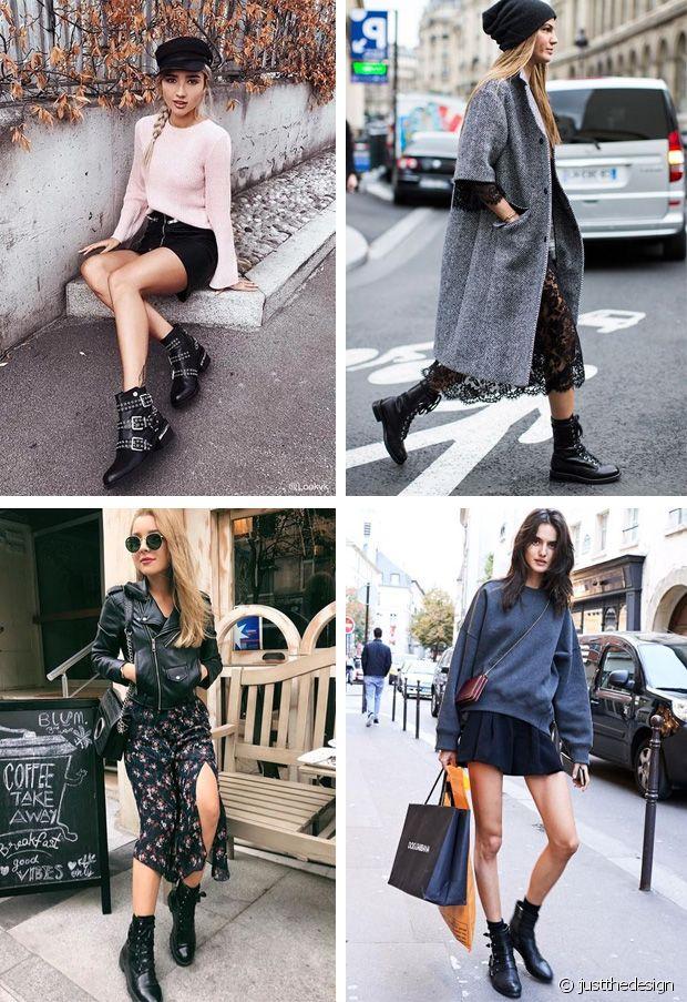 En robe ou en jupe, les bottines de motarde sont toujours une bonne idée
