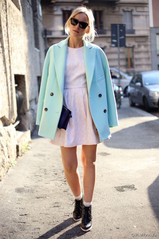 Pour celles qui n'ont pas froid aux yeux : le total look pastel est à la mode !