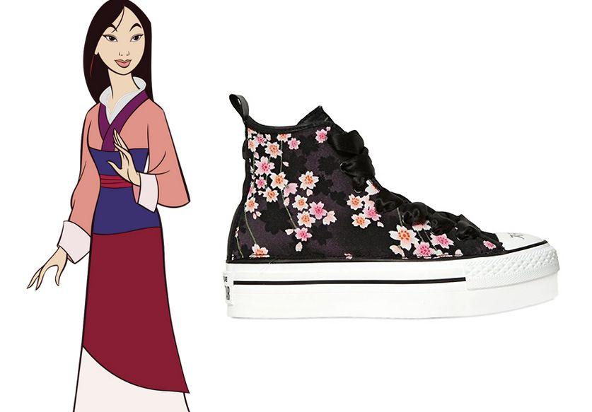 Fleurs de cerisiers et semelles plateformes pour mettre la Chine à vos pieds