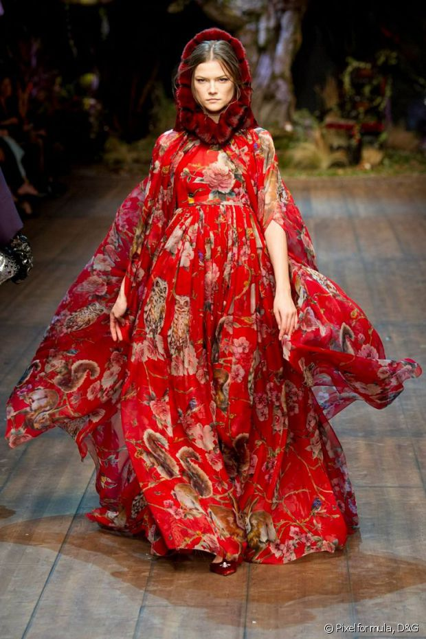 Le Petit Chaperon rouge, revu et corrigé par Dolce & Gabbana