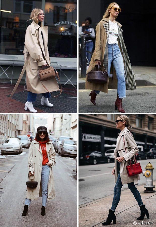 Trench-coat et bottines : toujours une bonne idée de duo