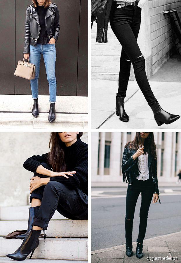 tenue avec bottine plates noires vernis