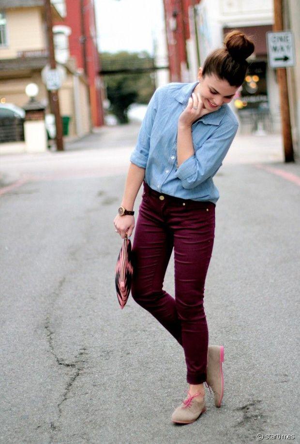Quelles chaussures porter avec un pantalon bordeaux ? Run