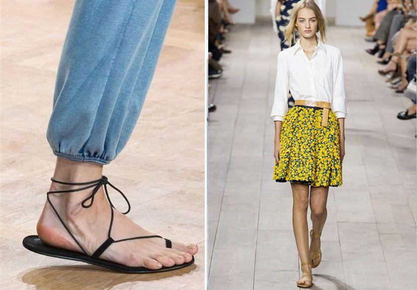 Les sandales minimalistes