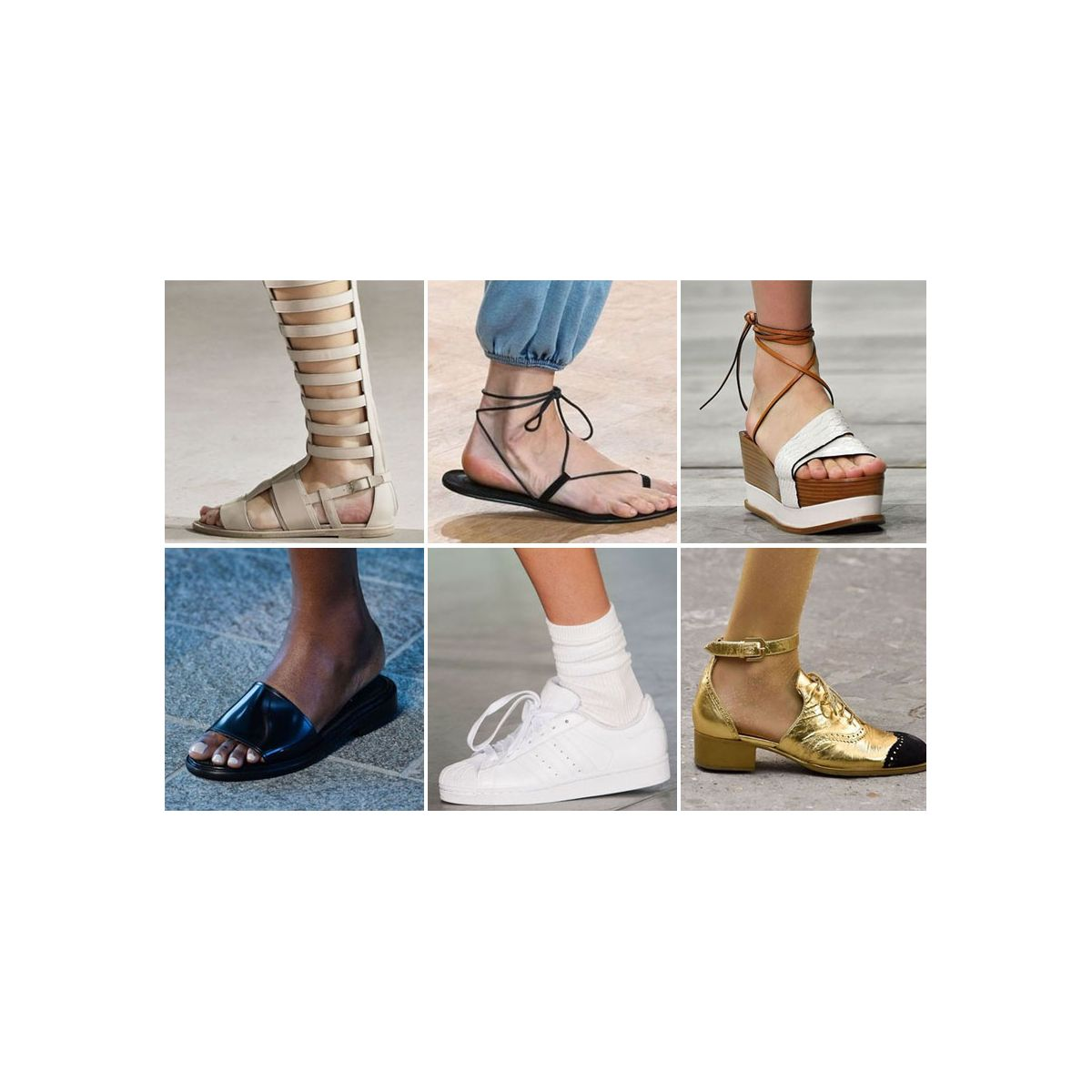 c94fd94dd Les 10 tendances chaussures du printemps-été 2015