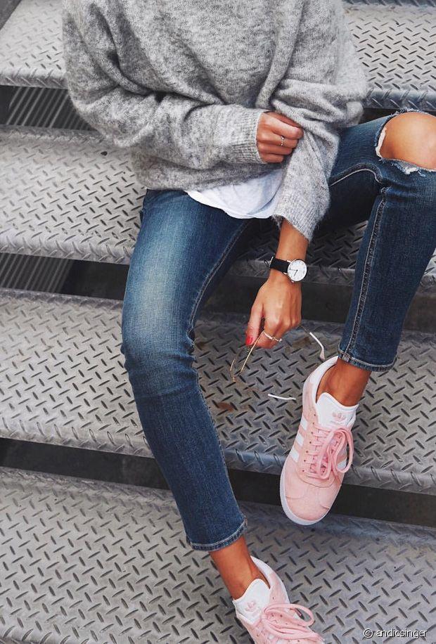 basket adidas gazelle rose