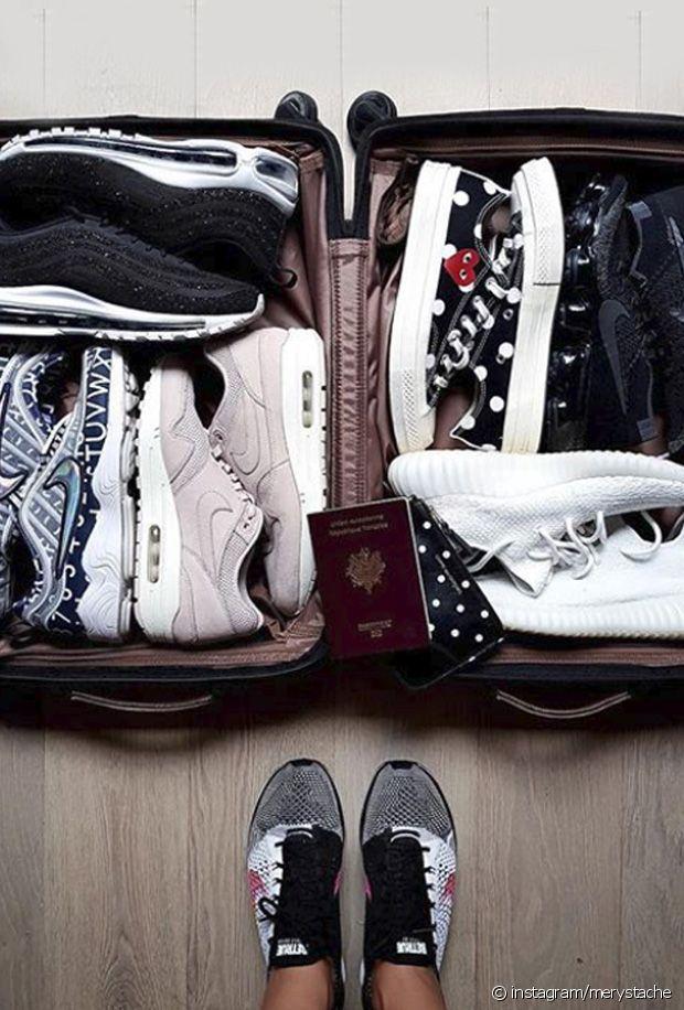 Comment ranger ses baskets dans sa valise ?