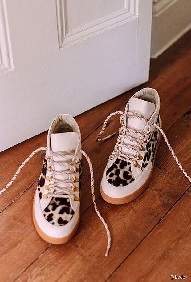 Sélection de chaussures léopard en faux poils d'animaux