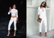 """J-Lo vs la blogueuse Sincerely Jules pour """"qui porte mieux le total look blanc?"""""""