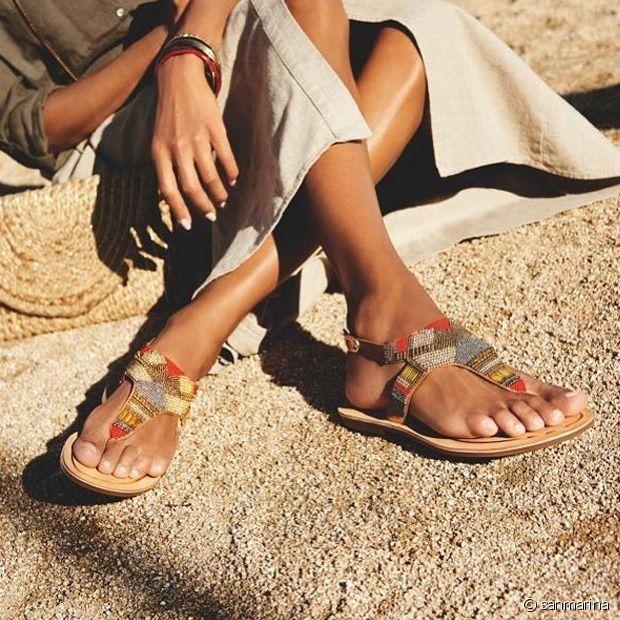 Coup de coeur pour ces sublimes sandales brodées de perles signées San Marina
