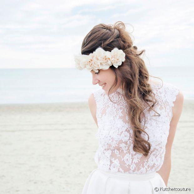 La jolie Clémence du blog Kutch et Couture dans une robe Manon Gontero