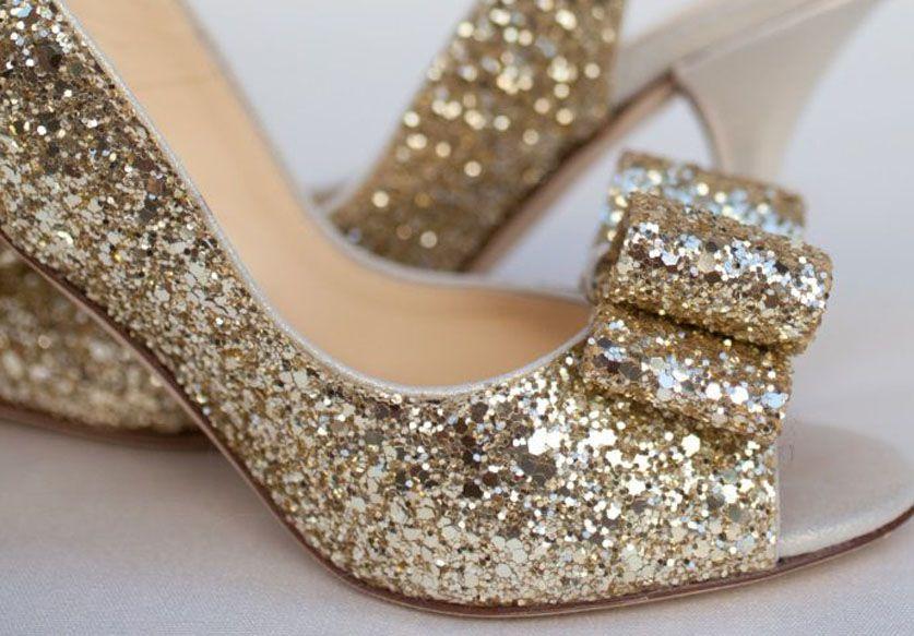 diy des chaussures paillettes