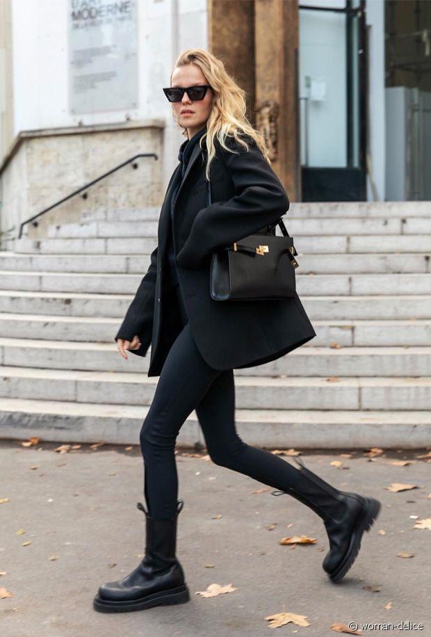 Quelles chaussures porter avec un total look noir ?