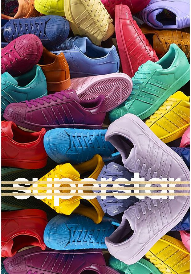 best sneakers e9a1e f8a7d Superstar Supercolor   les baskets colorées de Pharrell Williams pour Adidas