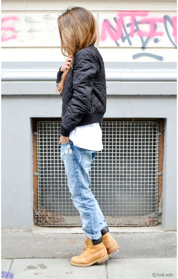 look avec des timberland homme