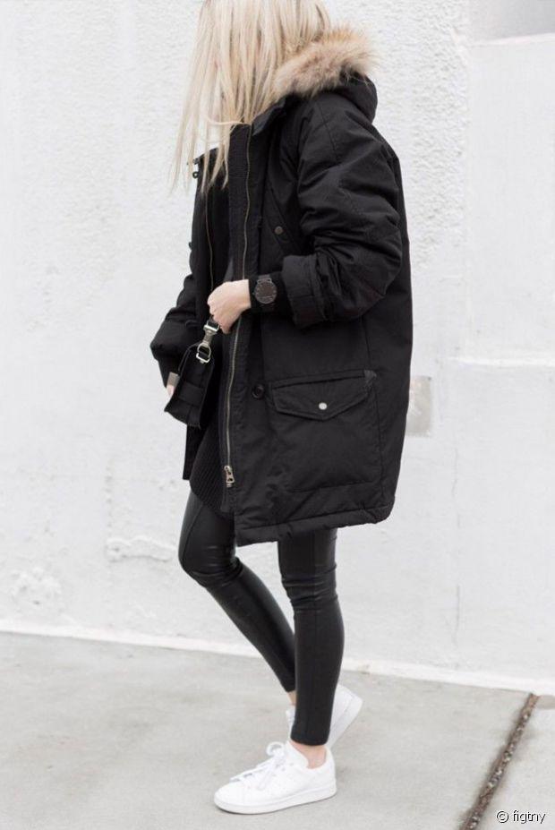 Je valide ce total look noir et blanc urbain