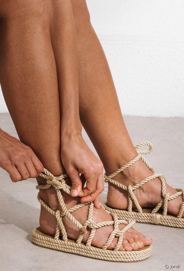 Tendance mode 2021 : zoom sur les sandales en corde pour l'été