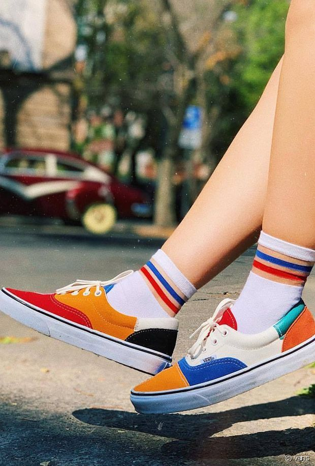 vans lance une collection de baskets patchwork colorees ...