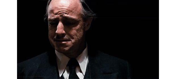Ça,  c'est quand Don Corleone réalise qu'il n'y a plus sa pointure en stock