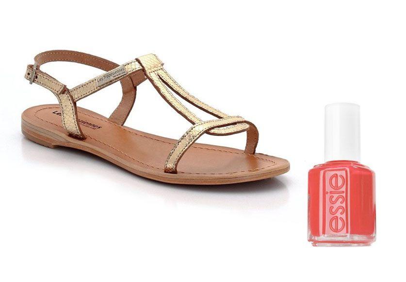 Sandales Les Tropéziennes +  Vernis Essie California Coral