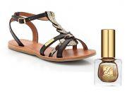 Sandales Les Tropéziennes  +  Vernis Pure Color Nouveau Riche Estée Lauder