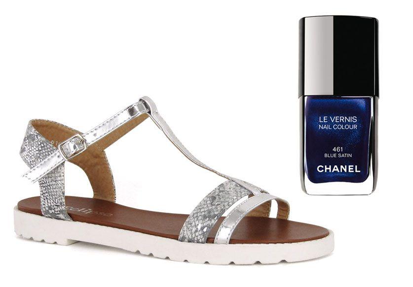 Sandales Athènes Eclipse  + Vernis blue satin 461 Chanel