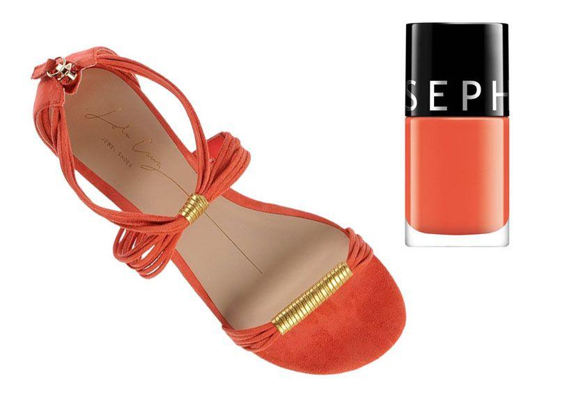 Sandales sanguines Lola Cruz  +  Vernis Color Hit Sephora