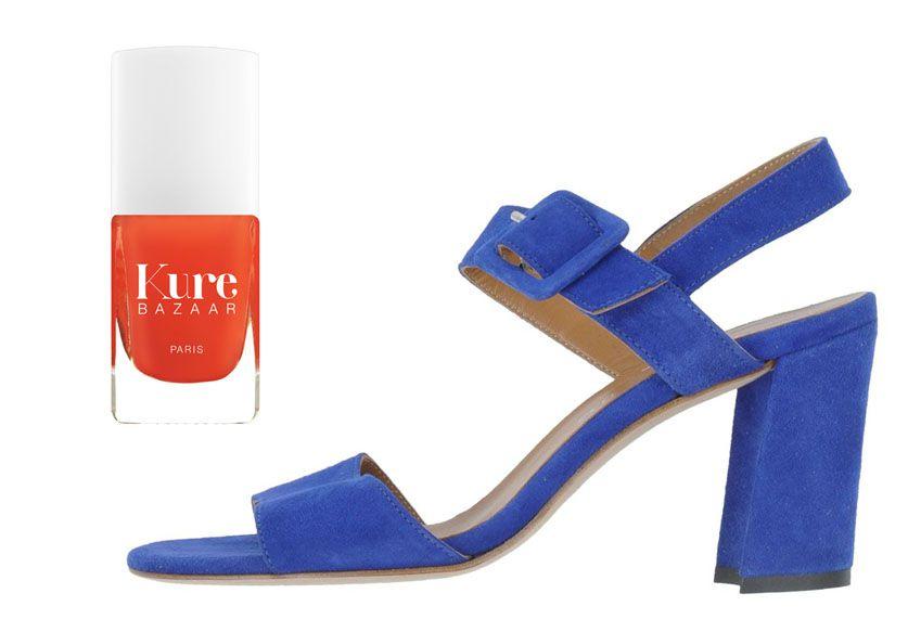 Sandales à talons Settantare  +  Vernis Coquette de Kure Bazaar