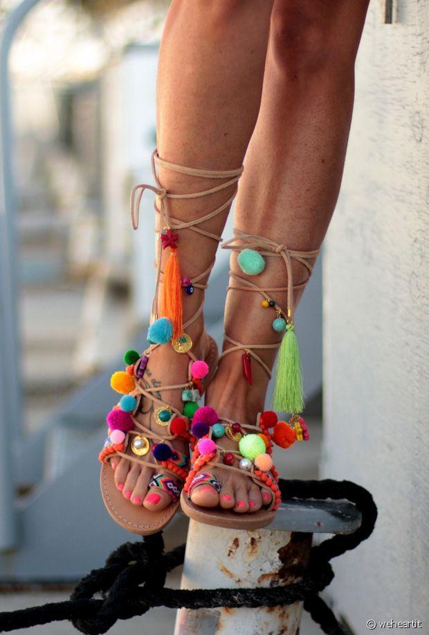 Sélection de sandales à pompons à moins de 65€ la paire