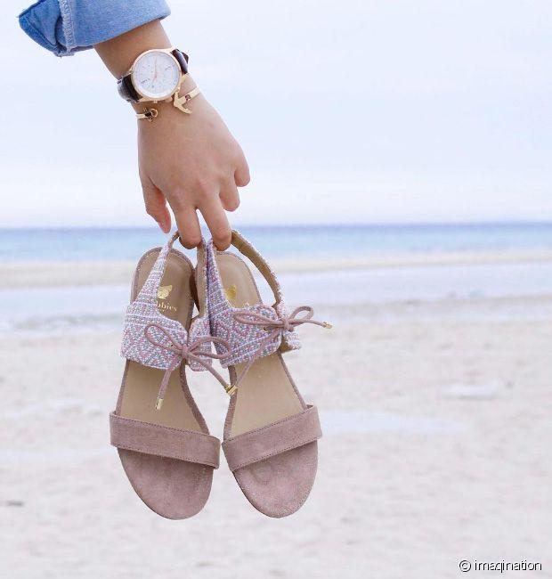 Couleur champagne Maya, les sandales Flâneuses sont parfaites pour l'été