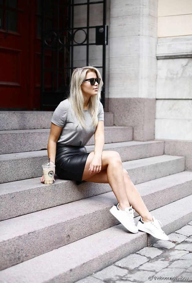 e9070e8e68eaef Quelles chaussures porter avec une jupe en cuir ?
