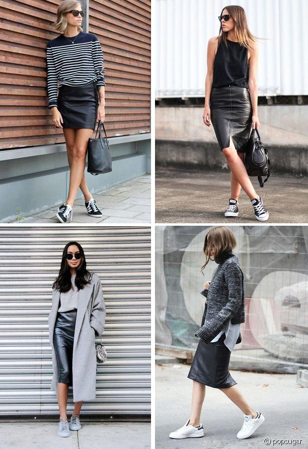 Quelles chaussures porter avec une jupe en cuir ? Run Baby Run