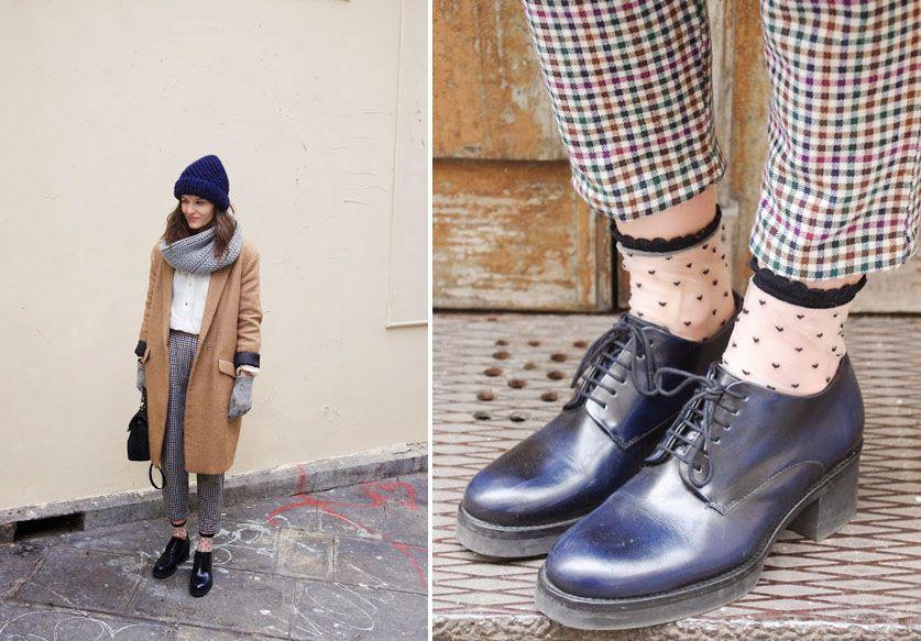 Les chaussettes plumetis pour celles qui soignent chaque détail