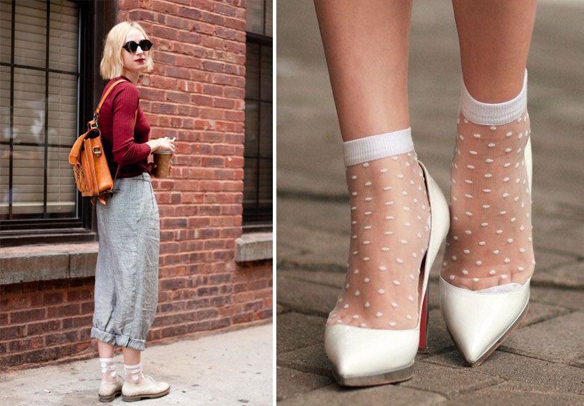 Les chaussettes plumetis tout droit venues des 80's